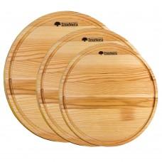 Набор досок  деревянных  разделочных  TreeVeru  круглых  30,35,40 см  (ясень)