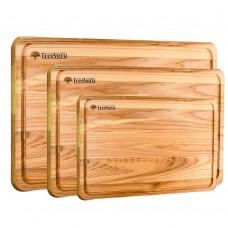 Набор досок  деревянных  разделочных TreeVeru прямоугольных  20х30,25х35,25х40см  (ясень)