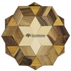 Подставка  деревянная Mosaic TreeVeru Ø15 см