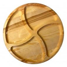 Менажница деревянная TreeVeru круглая на 4 отделения  Ø30 см   (ясень)