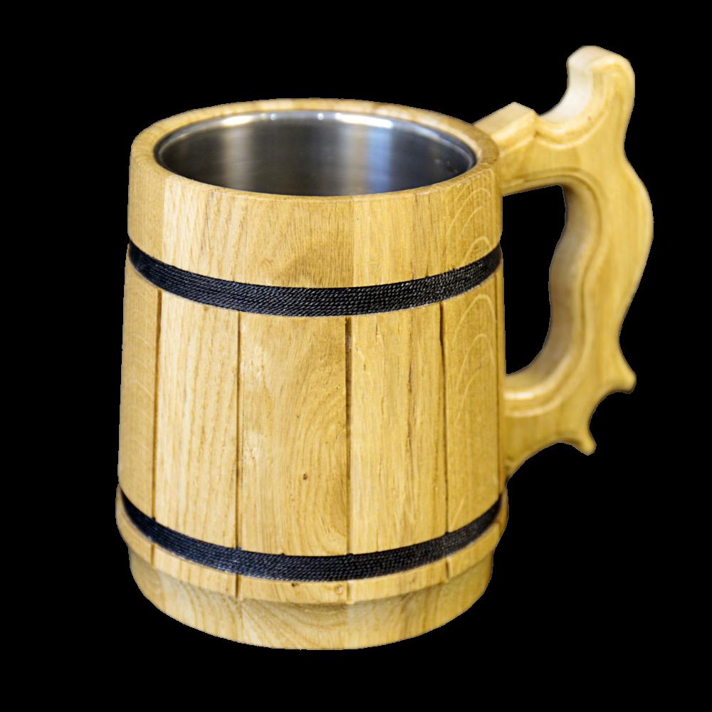 Кружка пивная деревянная TreeVeru 0,5 л