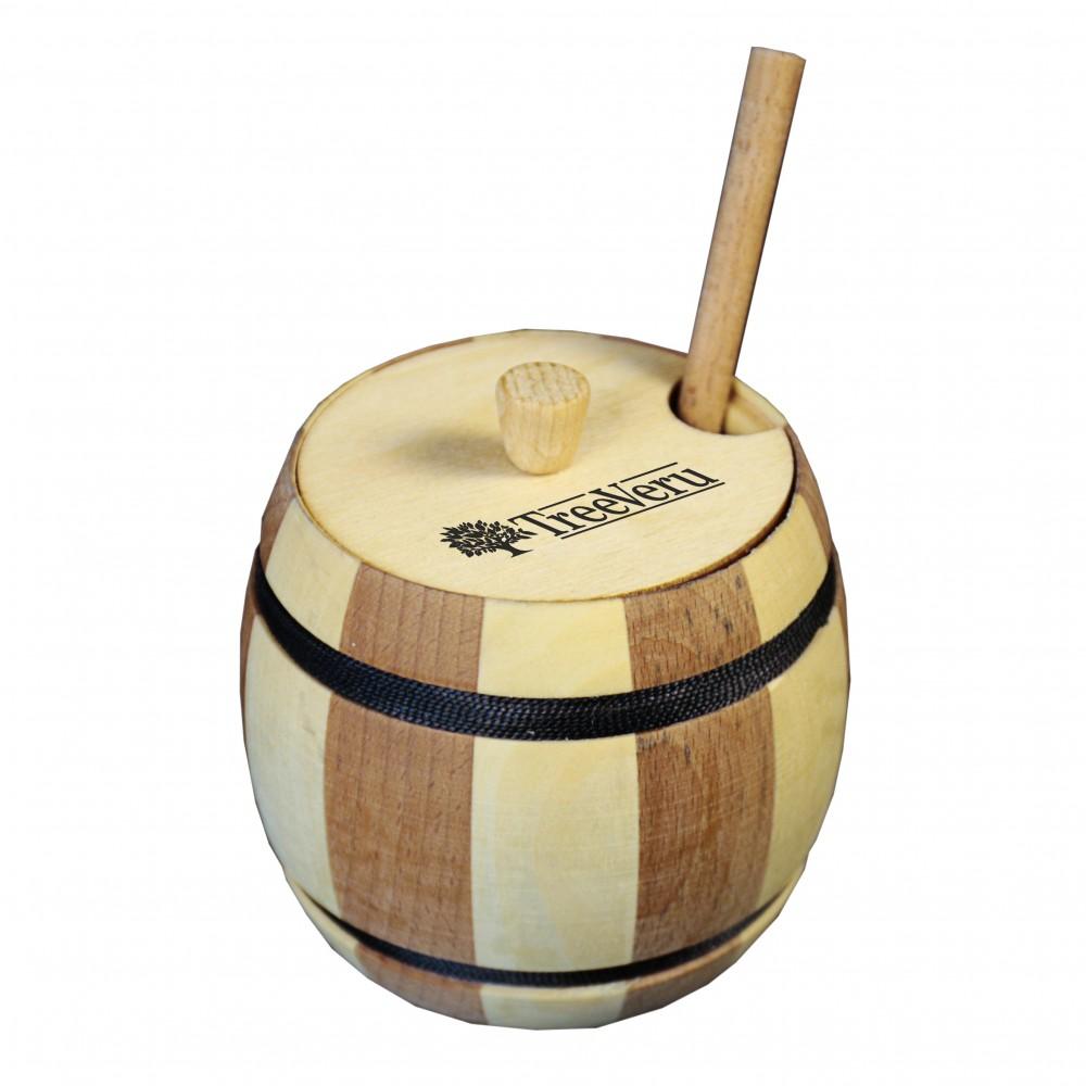 Бочонок деревянный TreeVeru для мёда 0,3 л
