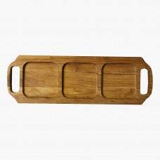 Менажница  деревянная TreeVeru с ручками 45х15 см (дуб)