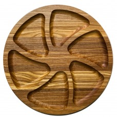 Менажница деревянная TreeVeru круглая на 6 отделений Ø30 см  (ясень)